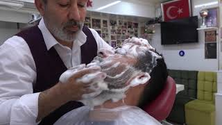 ASMR Turkish Barber by Münür Önkan Blackhead Cleaning and Head,Neck,Back,Arm Massage