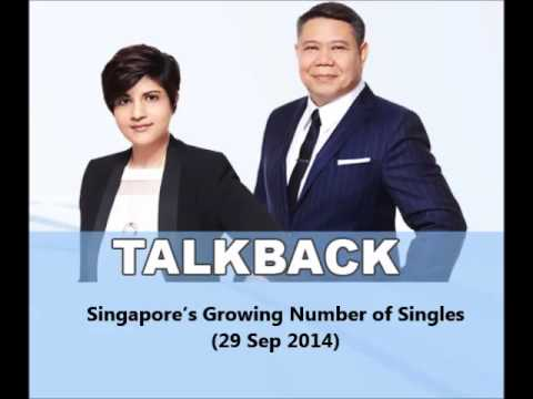 938LIVE Talkback - Singapore's Growing Number of Singles (29 Sep 2014)