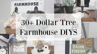 30+ DOLLAR TREE FARMHOUSE DIYS | RUSTIC HOME DECOR | HOME DECOR DIYS