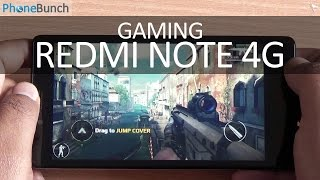 Xiaomi Redmi Note 4G Gaming Review