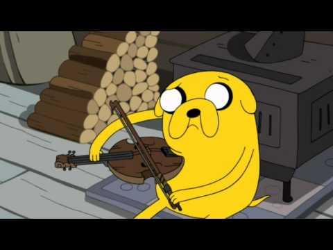 Finn listening to music