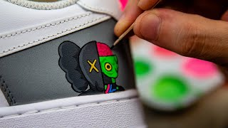 Zapętlaj How to Paint with a Toothpick | You HAVE to try this | DeJesus Custom Footwear
