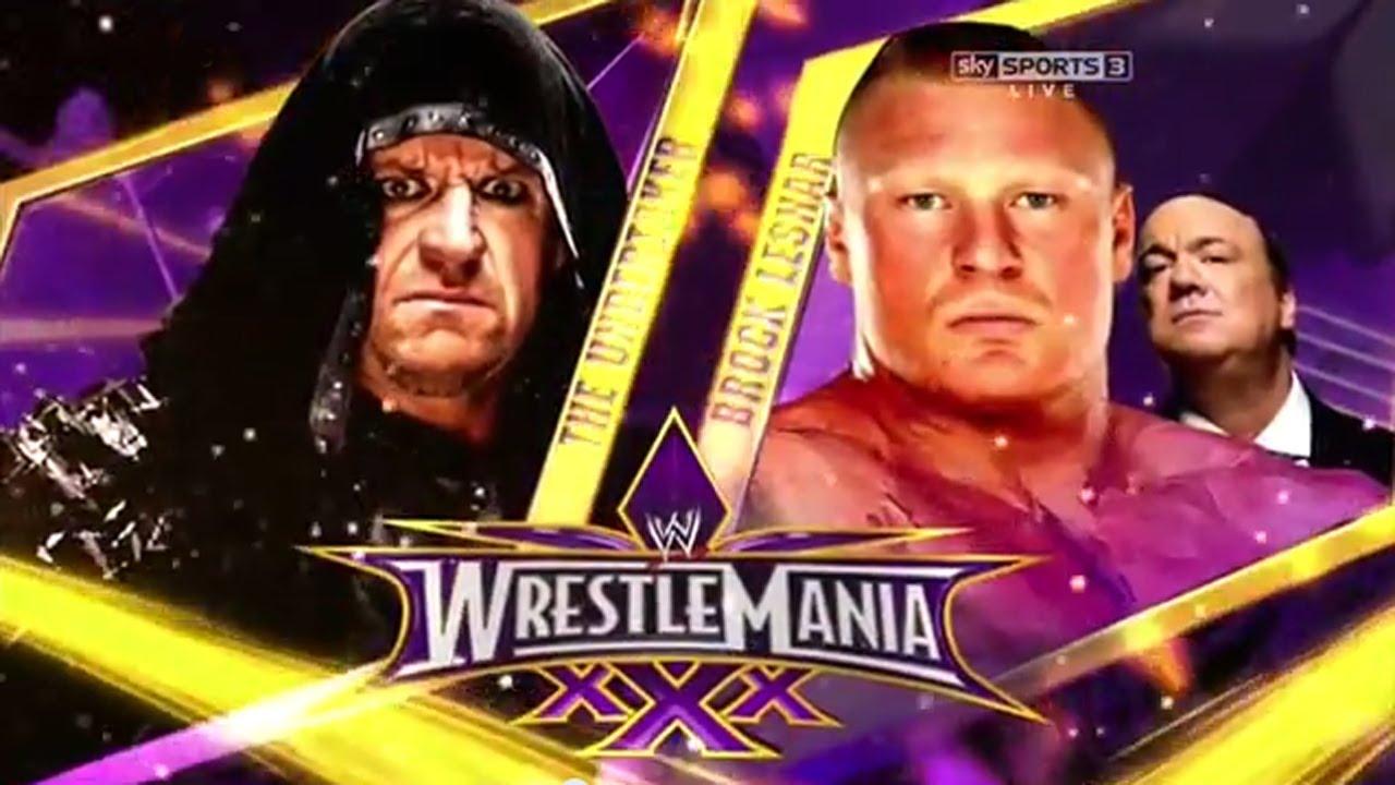 Brock lesnar vs undertaker match video