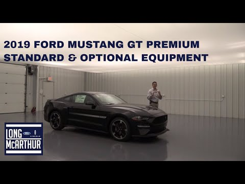 2019 FORD MUSTANG GT PREMIUM STANDARD AND OPTIONAL EQUIPMENT