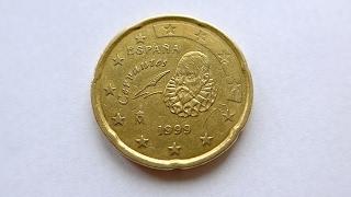 20 Euro Cent Coin :: Spain 1999