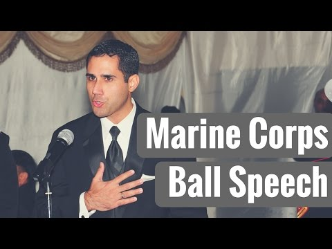 Marine Corps Ball Speech - Jeddah, Saudi Arabia - Greg Matos