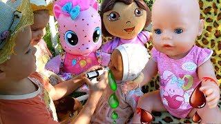 Пупсики Беби Бон Пинки Пай Заболели в Детском саду Играем в Доктора Даша путешественница