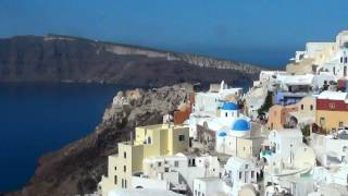 Santorini - Oia - Greece (HD video)(Oia or Ia is a small town and part of the municipality of Santorini. Ponounced 'Ia', Oia is situated on the north side of island of Santorini Greece, 11 km from Fira, ..., 2016-08-14T23:20:59.000Z)