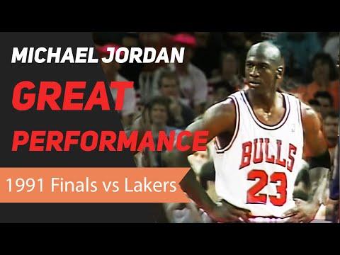 Michael Jordan 1991 NBA Finals Great Performance