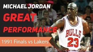 Michael Jordan 1991 NBA Finals Great Performance
