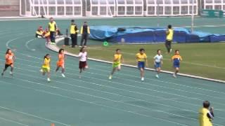 女子乙組 100米決賽   朱致祾和陸昉楠