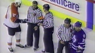Tie Domi and Sandy McCarthy mock each other