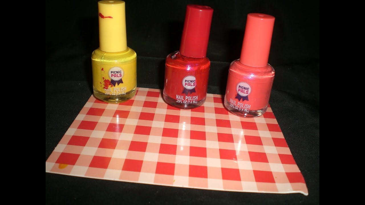 Picnic Pals Bacon Flavored Nail Polish YUM!! - YouTube