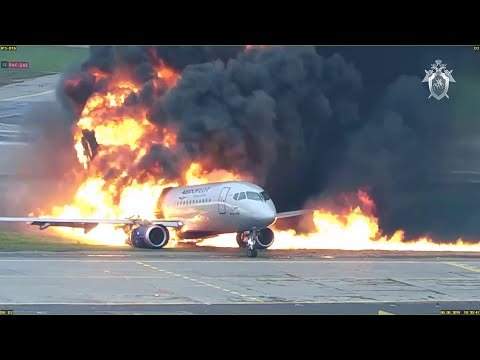 New footage shows 2019 plane crash at Moscow airport