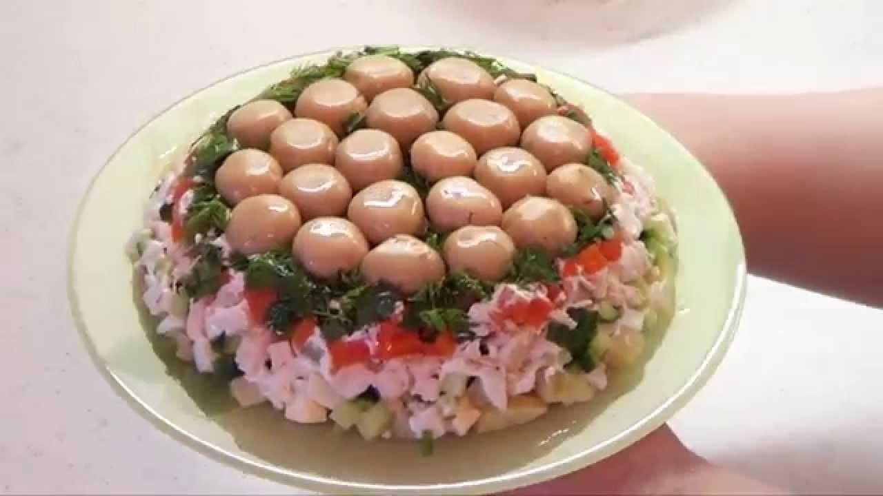 Грибная поляна рецепт с мясом с фото