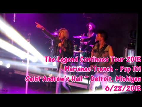 How to write a pop song marianas trench tour