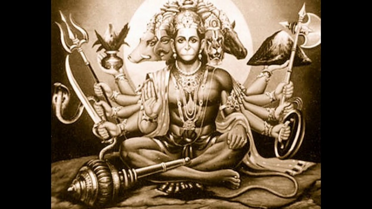 good morning wishes with rare panchmukhi hanuman images wallpapers