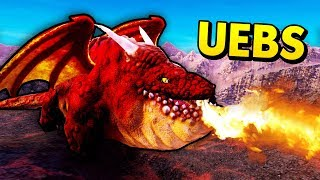 NEW DRAGON UNIT IN UEBS! (Ultimate Epic Battle Simulator / UEBS Mods Gameplay)