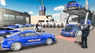 US Police Car Transport Cruise Ship Simulator 2018   Bike & Police Cars Transport - Android GamePlay