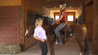 Basic Western Horseback riding position Seat and Legs with Kathy Slack