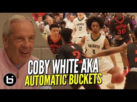 Coby White EXPOSED!!! As the Best High School Bucket in America! [State Semi-Final]