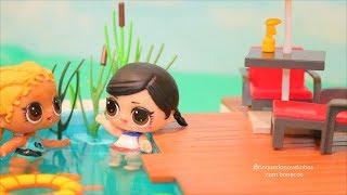 LOL Surprise Customizando Bonecas LOL Com Roupas de Banho Para Piscina -Brinquedonovelinhas