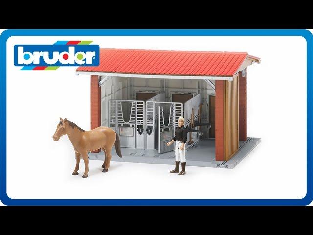 BRUDER BWORLD SET HORSE BARN 62506
