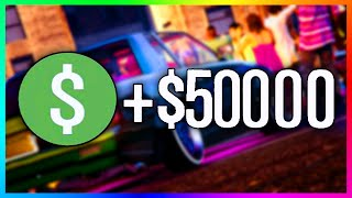 GTA 5 Online - How To Make $50,000 In Just Over A Minute! - Fast & Easy Time Trial Money! (GTA 5)