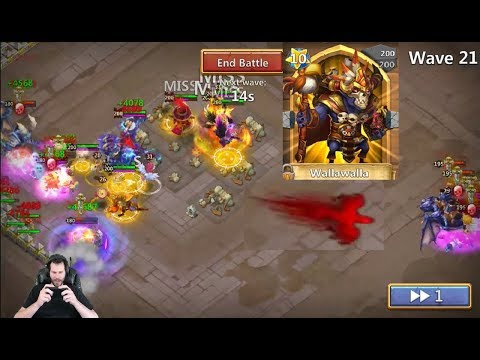 Walla Walla Smashing EmbeR Army Wave 22 Castle Clash