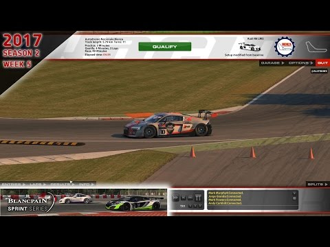 iRacing | Blancpain Sprint Series | 17 S2W5 | Audi R8 LMS @ Monza