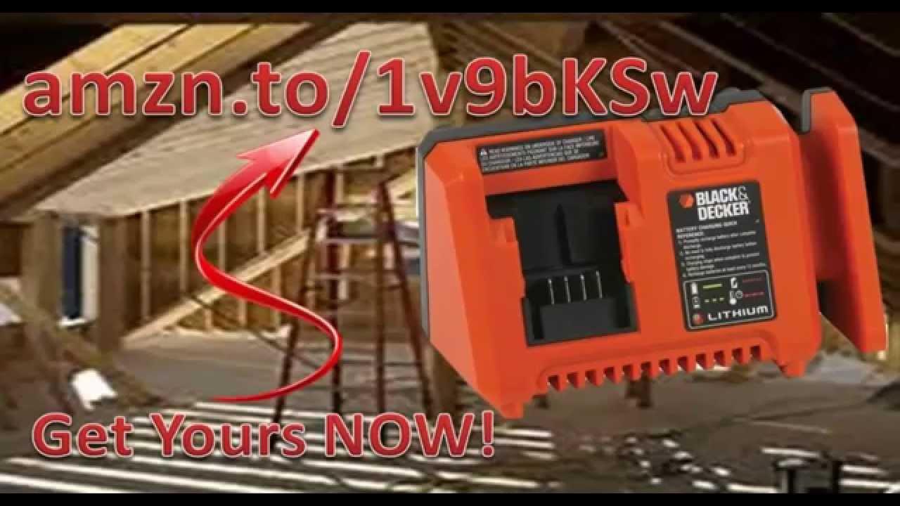 Black Amp Decker L2acf Ope 20v Max Lithium Ion Fast Charger Black And Decker Fast Charger L2acf