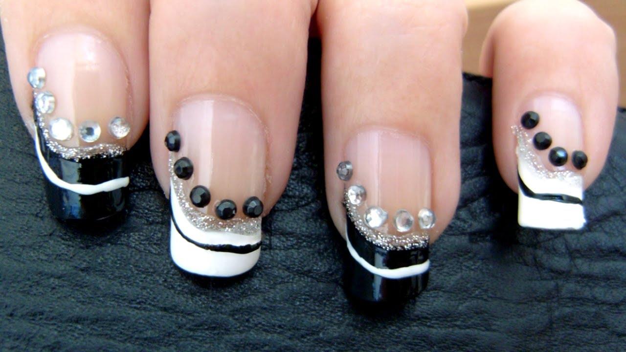 Nail ideas for black dress
