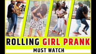 Rolling Girl Prank In India ||  Prank in India  |Ankit roy prankster | Greedygenius