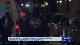 Police shoot man in the hip during confrontation in Harlem building