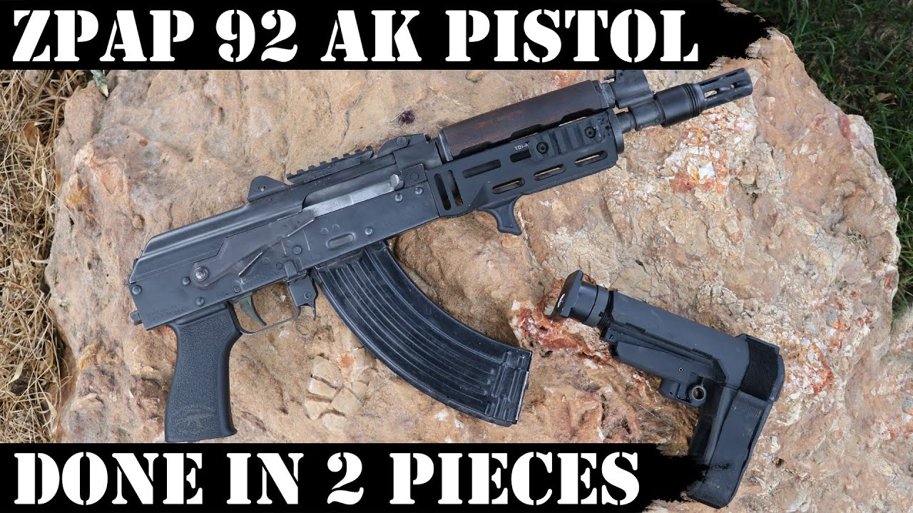 ZPAP92 AK Pistol - Done in 2 Pieces! 5,000 Rounds Later!