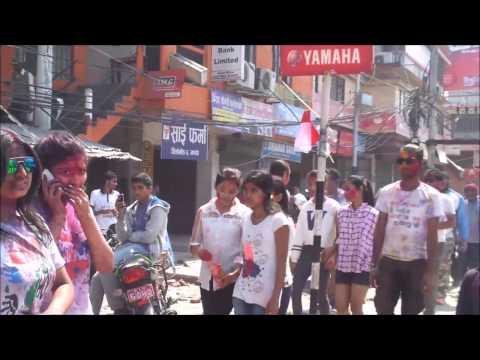 Holi in Birtamod City (Jhapa) 2017