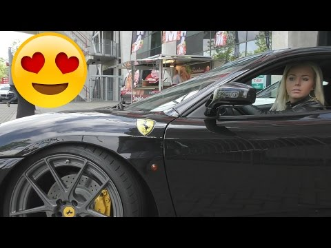 HOT GIRLS Driving FERRARI F430!
