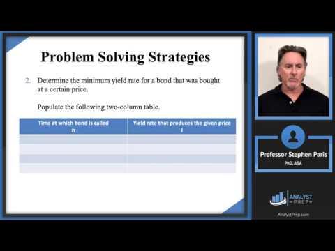 Callable Bonds (SOA Exam FM – Financial Mathematics – Module 3, Section 7)