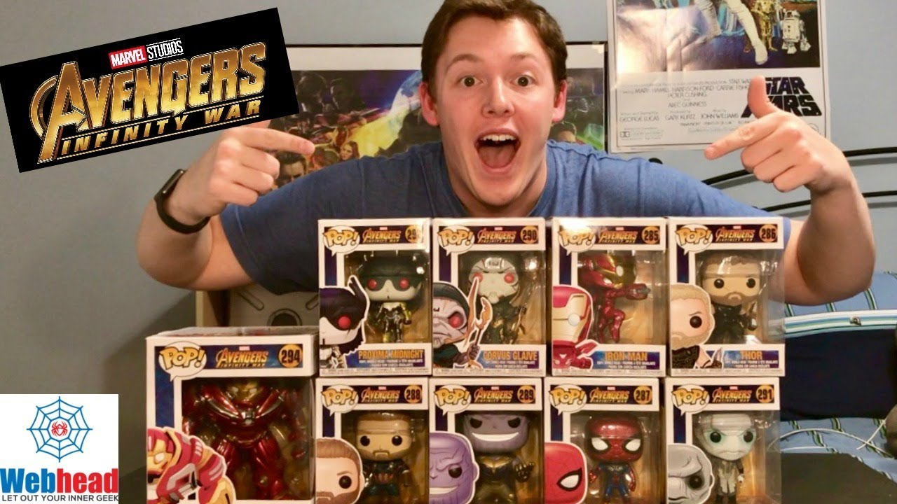 Avengers Infinity War Funko Pop Unboxing And Review Webhead Youtube