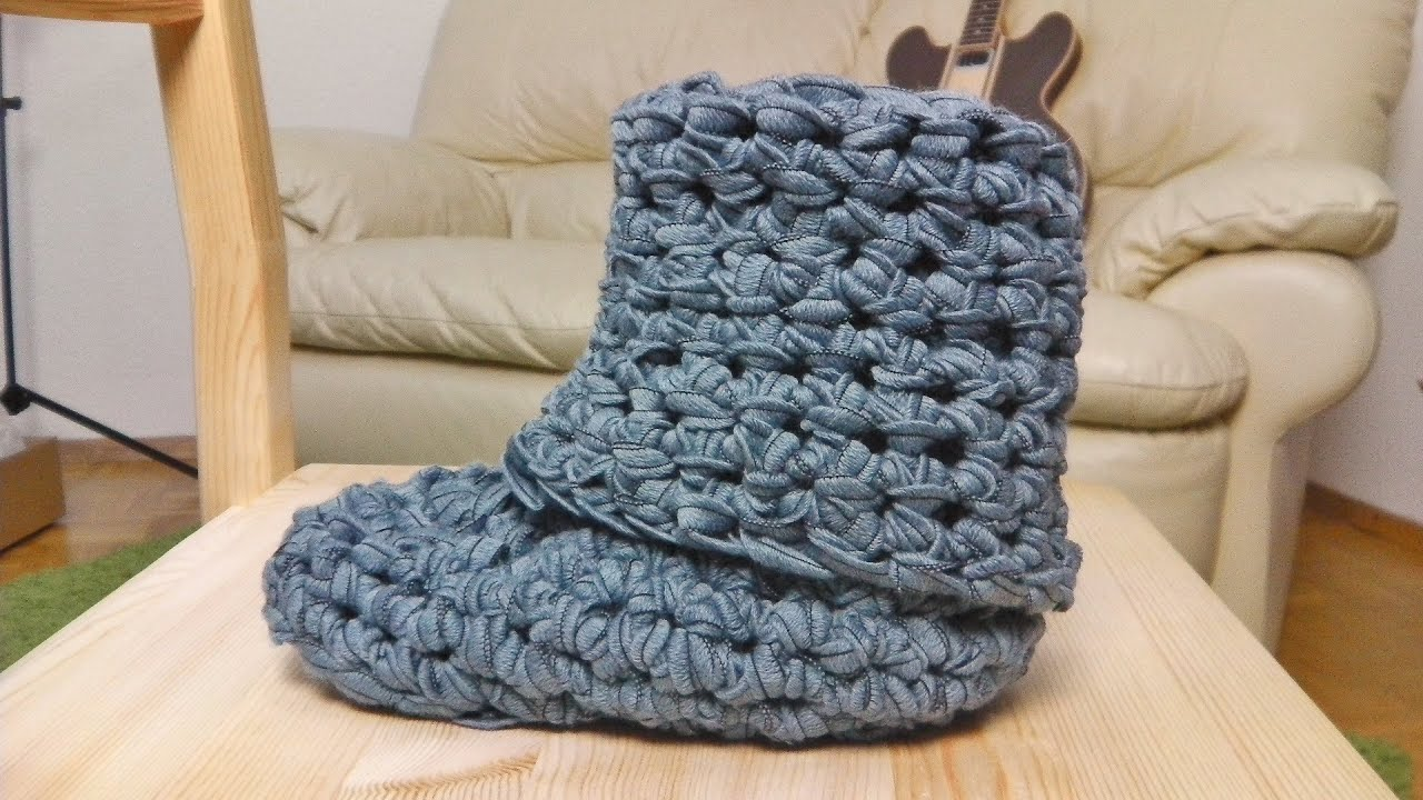 How to crochet boots - YouTube
