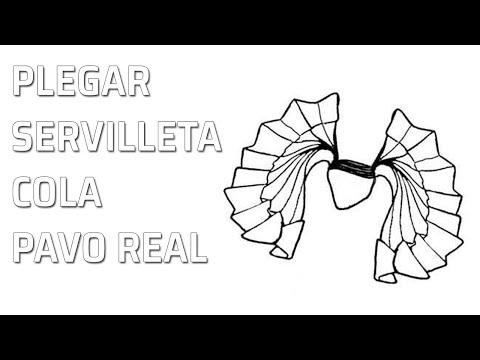doblado de servilletas pavo real