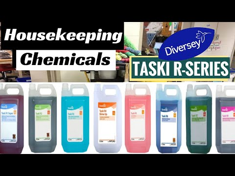 Housekeeping Cleaning Agents - Taski R-Series Chemicals (R1 To R9) Usage
