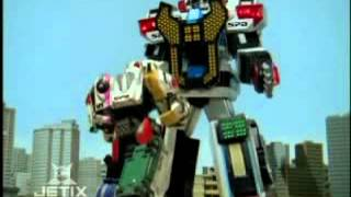 Power Rangers S.P.D. - Delta Command Megazord Transformation