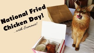 CELEBRATING NATIONAL FRIED CHICKEN DAY 2020 WITH SUMMER: Polite Cat's Favorite Holiday
