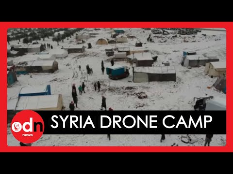 Syria: Drone Footage Shows Horrible Conditions of Refugee Camp Covered in Snow