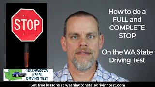 How to Stop on the Washington Driving Test