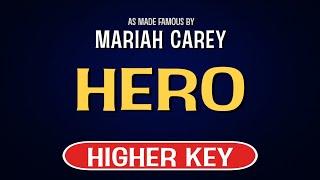 Mariah carey - hero   karaoke higher key