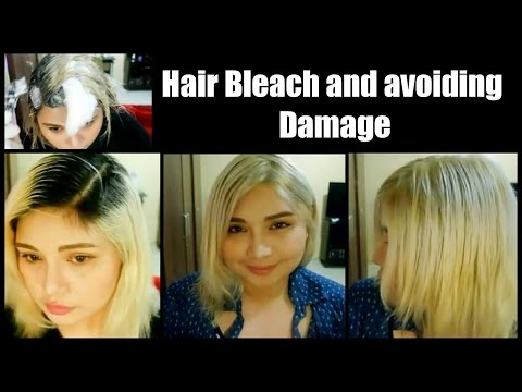 Bleaching hair coconut oil and cotton ( platinum blond asian hair)