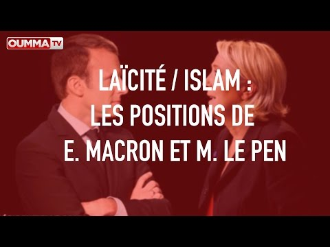 Laïcité/islam:  les positions de Macron et Le Pen