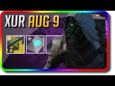 "Destiny 2 - Xur Location, Exotic Armor Random Rolls & Xur Bounty ""The Colony"" (8/9/2019 August 9)"